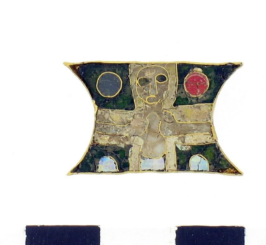 Gouden reliek uit St. Odiliënberg.